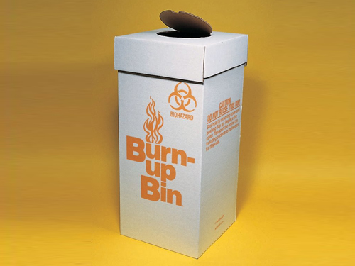 Fisherbrand™ Burn-up Bin™ Biohazard Waste Boxes Thumbnail